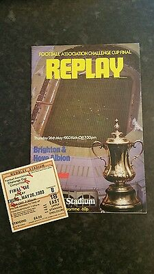1983 F A Cup Final Replay Brighton and Hove Albion v Manchester United (Package)
