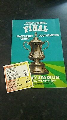 1976 F A Cup Final Manchester United v Southampton (Package)
