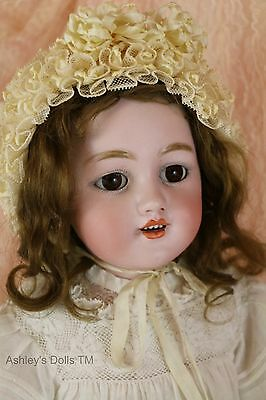 Simon and Halbig 1250 Antique German Bisque Doll, 21 In, Antique Doll, Lovely!