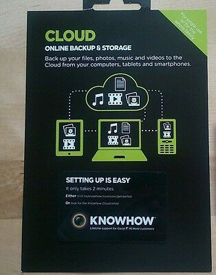 4TB - 5 YEARS - KNOWHOW Cloud Online Storage & Backup! -RRP £150 (LIKE DROPBOX)