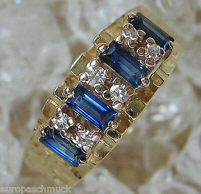 Safirschmuck in aus Gold Ring Diamant Safir Ring mit Brillant Ring Saphir Safire