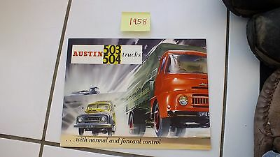 AUSTIN  TRUCK LORRY COMMERCIAL  large  COLOURFUL BROCHURE 1958