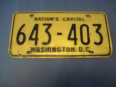 1969 DC license plate