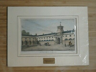 Antique print picture of Royal Mews Pimlico London