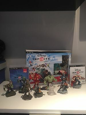 Disney Infinity 2.0 PS3 Starter Pack + Extra Marvel Characters - A Large Bundle