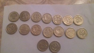 £1 pounds United Kingdom coins full set of the pic