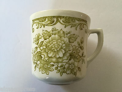 J & G Meakin China AVONDALE GREEN Floral Scrolls Scalloped - TEA CUP