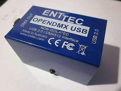 Enttec Open DMX USB Dongle PC Lighting Control Interface + leads