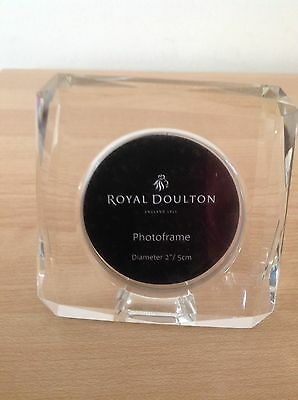 Bnwt Royal Doulton Crystal Square Picture Photo Frame - Mint Condition