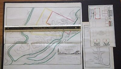 Antique MAPS  Mount Dearborn Arsenal-Fort, South Carolina Catawba River