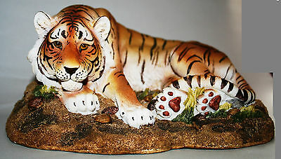 Tiger Figurine, Large, Hand Painted, Lying Tiger, Excellent Model,ltd.edition