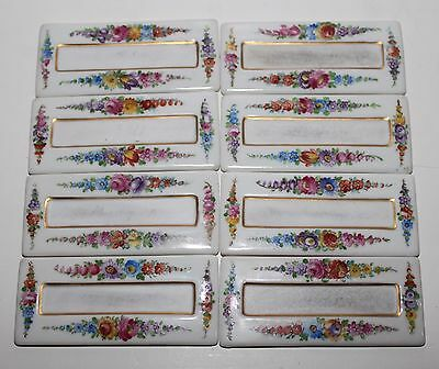 Vintage Dresden Porcelain Place Card Holders - Set of 8 Hand Painted