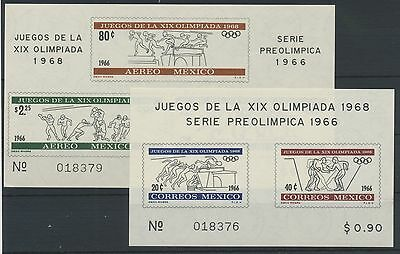 Mexico Olympische Sommerspiele 1968 Block 5 + 6 MNH **