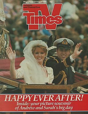 TV Times 2-8 August 1986 (Royal Wedding/Michael Barrymore/James Cagney/punk)