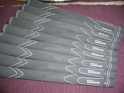 9 Ladies Size New Wilson Grey  Rubber  Top Quality Golf Grips