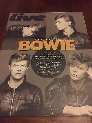 Live 'Supplement' Magazine Featuring David Bowie 'The Unseen Bowie'
