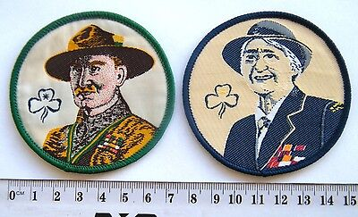 Lord & Lady Baden-Powell Badge Set, 2 x Guide Badges, 2 x BPs, Nice & Colourful