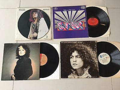Joblot 4 x Marc Bolan T Rex LP's Beard of Stars Unobtainable Picture Disc