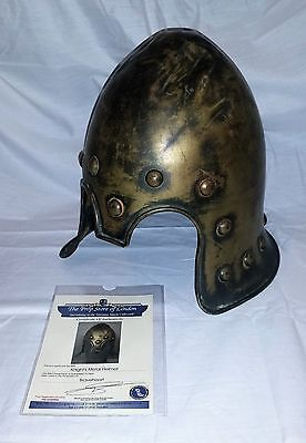 rare quality genuine braveheart knights helmet film prop with coa clan wallace