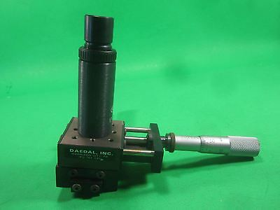 """Daedal Precision 1¾"""" x 1¾"""" XY Stage ½"""" Micrometer -- Used --"""