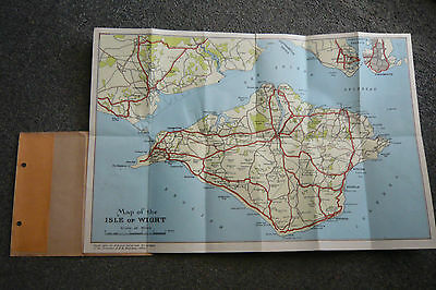 Isle Of Wight Vintage Tourist Map.