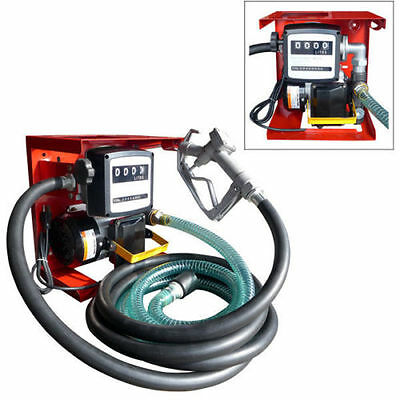 Electric Oil Transfer Pump w/ Meter 110V 16GPM - Diesel Fuel Manual Nozzle Hose