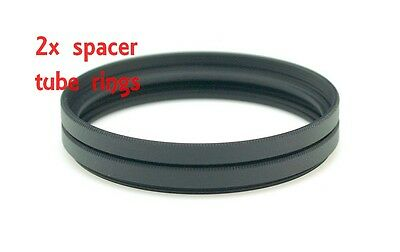 2x 52-52 Step Spacer tube filter extension ring Steping Adapter male female 52mm