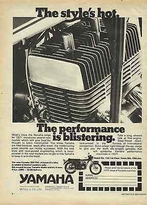 One Only Original 1971 Yamaha 350 Yr5 Ad/poster Tz Rd