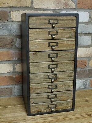 5 Drawer Industrial Cabinet Wood Storage Chest Craft Stationery Tools Store Etc