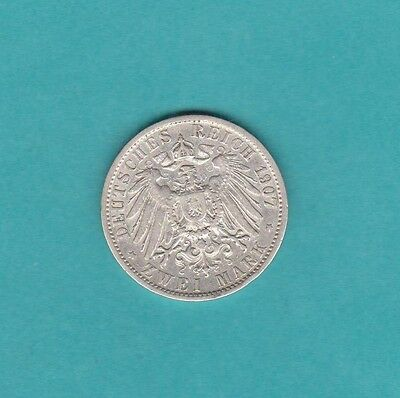 The  Germany Silver Two Marks 1907A Coin Wilhelm Ii .