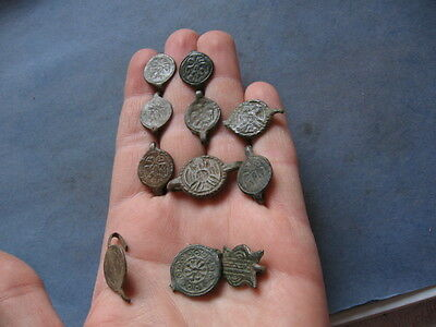 11 Ancient German Tribes Belt Applications With Eagle And Sun 200-50 B.c.