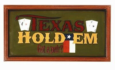 Ram R442 Wooden Texas Hold'Em Got a Pair Pub Sign 3D Art with FREE shipping