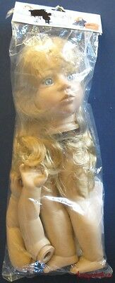 """New Syndee's ASHLEY Kit To Make an 18"""" Heirloom Doll VTNS Parts Head Arms Legs"""