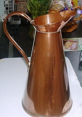 QualityTall Seamed Copper Water Jug With Handle,- Small triangle stamp mark ??