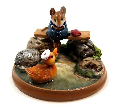 WEE FOREST FOLK 2001 PM-4 Millpond Mice JUST DUCKY Mint In Original Box