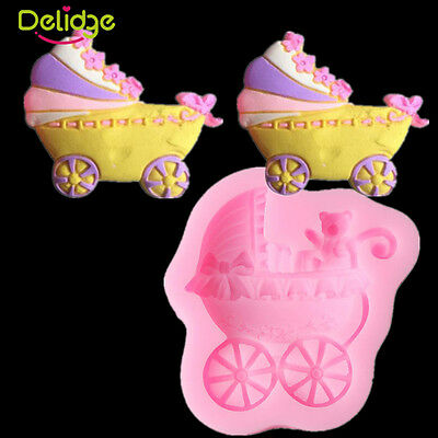 Baby Shower Candy Carriages Silicone Fondant Chocolate Mold Cake Decorating