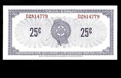 CTC S1-D-D 25 cent note, Uncirculated