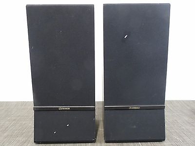 Fisher Speaker Set of 2 Wood grain with black covers /5C1