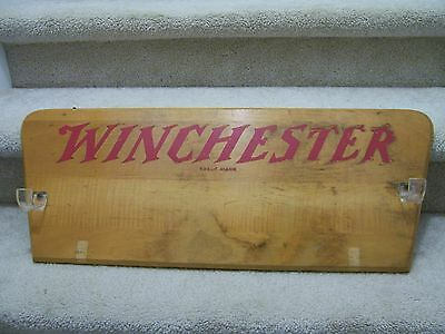 Vintage Winchester Gun Rack  Solid Wood measures 11x29 wall mount ready RARE!!!