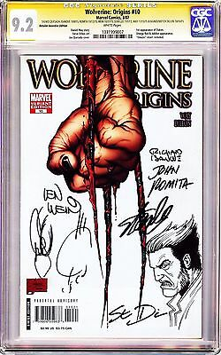 Wolverine Origins #10 3rd Claw Variant CGC 9.2 SS X7 Stan Lee, Dillon+Sketch RIP