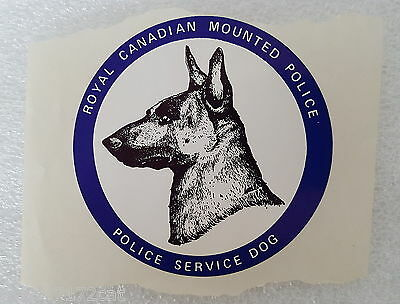 Sticker German Shepard Royal Canadian Mounted Police Service Dog Round Shape
