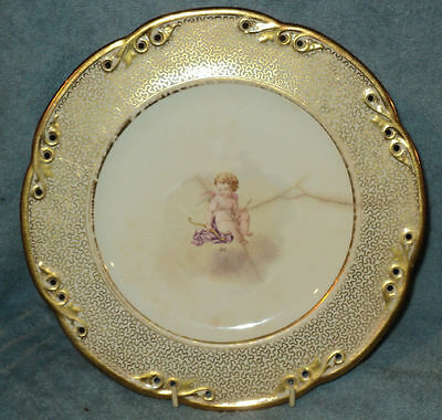 Antique Vintage Cupid Plate English Marked 1855-1878
