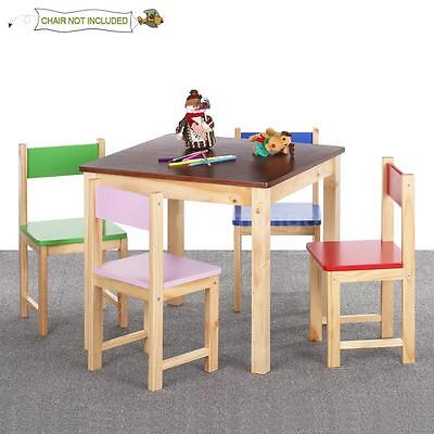 Wooden Child Kids Chair Stool Or Table Set for Stacking School Playroom F5G1