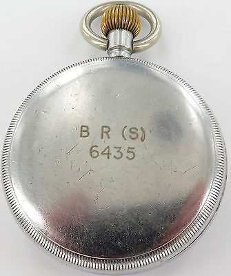 "Vintage ""Recta"" Brand British Rail / British Railway Pocket Watch. B R (S) 6435"