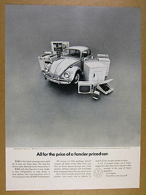 1967 Volkswagen VW Beetle car & appliances photo vintage print Ad