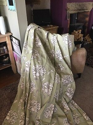 """Shabby Chic Fully Lined Eyelet Curtains. 66"""" Wide X 90"""" Drop"""