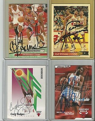 Chicago Bulls Autographed Basketball Cards - Lot of 9