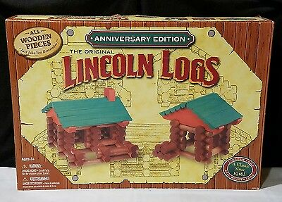 Lincoln Logs Anniversary Edition 100 plus pieces 2000