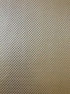 Silver with Fine Embossed Gold Dots Leatherette Sheet A4 A5  Australian Seller