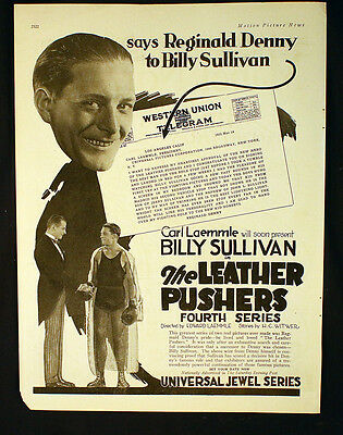 Billy Sullivan The Leather Pushers / Crowing About Carl Laemmle Silent Film 1923